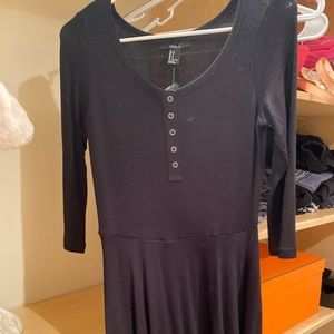 Button Fit and Flare dress